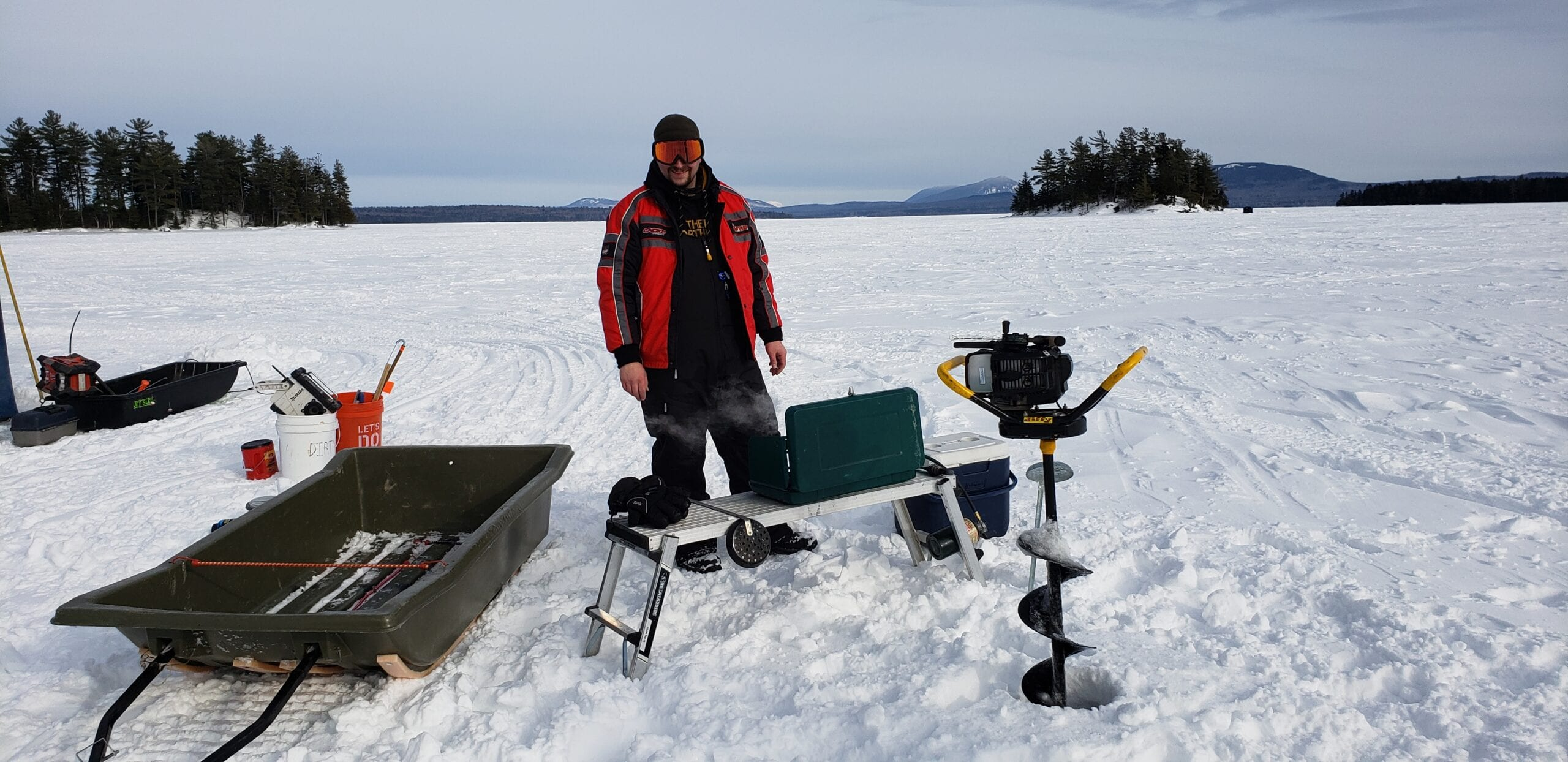 Ice Fishing on Moosehead Lake
